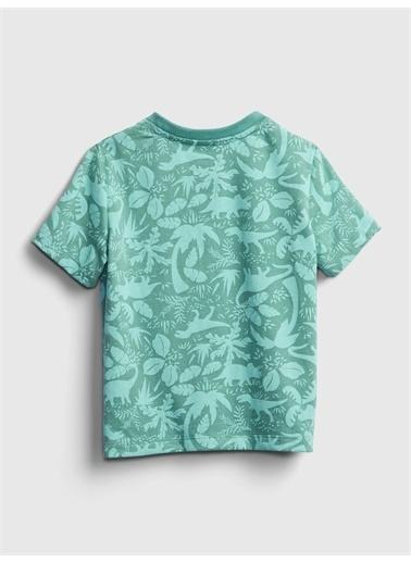 Gap Kısa Kollu Desenli T-Shirt Mavi